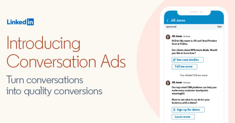 Linkedin, Introducing Conversation Ads