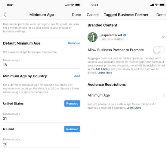 Instagram 为品牌内容添加年龄验证工具, NATIVEX