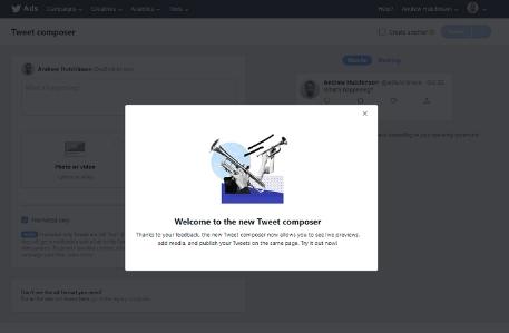 Twitter 在 Ads Manager 更新推文创作版, nativex