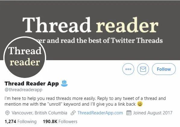 Thread Reader App, Nativex