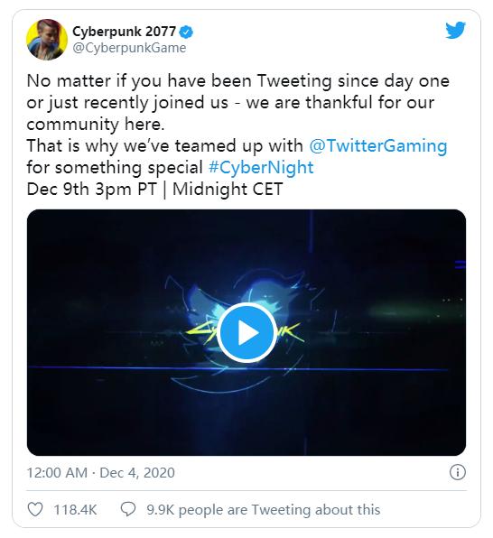 赛博朋克2077 感谢推特社区推文,Nativex