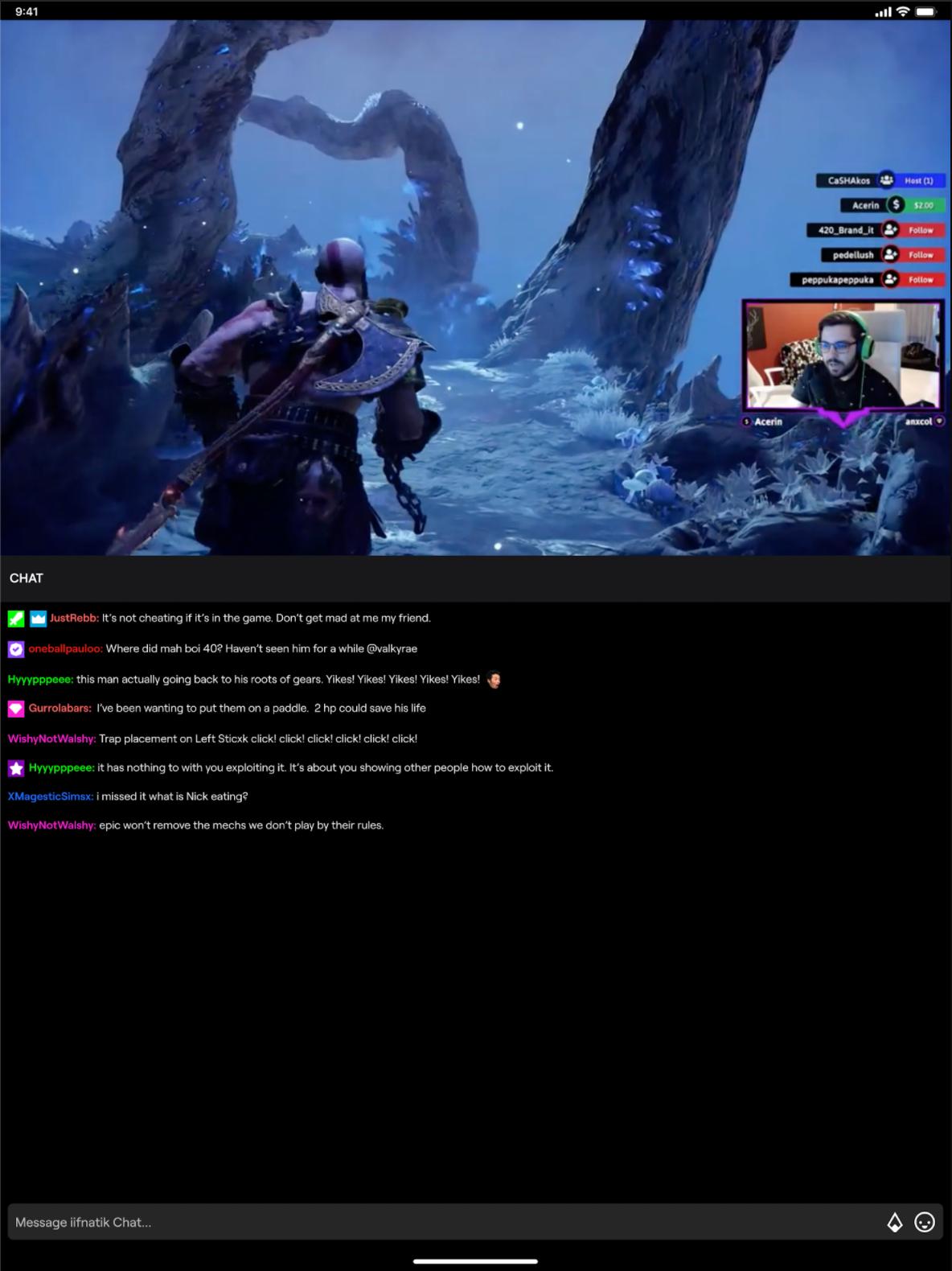 Twitch 游戏直播画面,Nativex